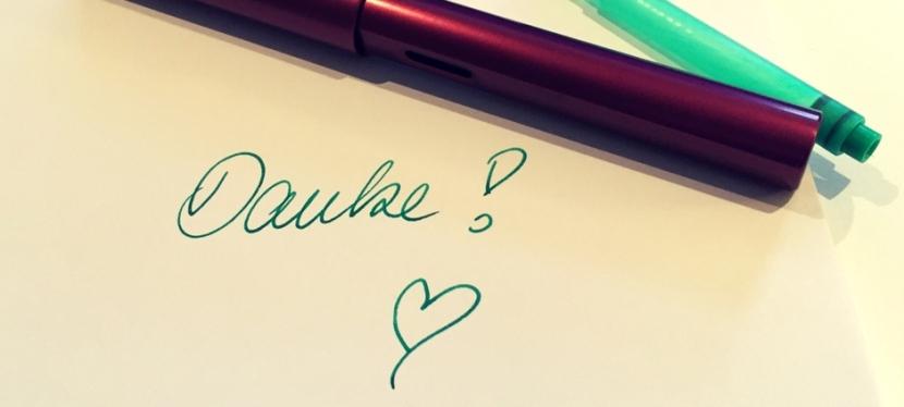 Handschrift lässt Ideenfließen
