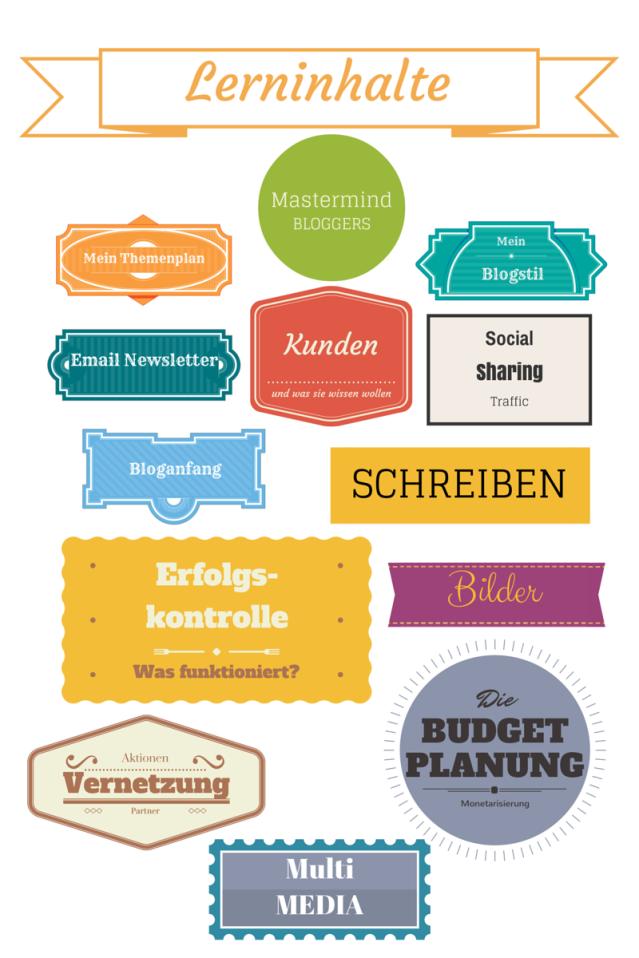 Was Sie bei Mastermind Bloggers lernen