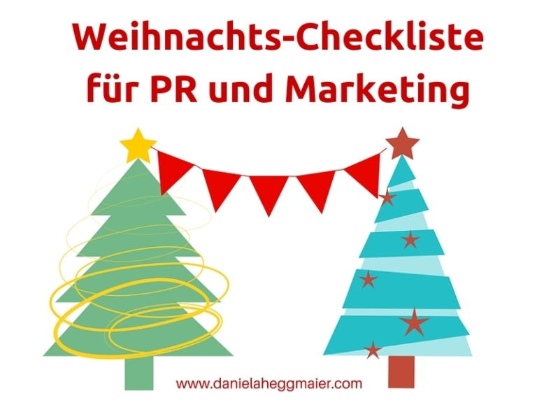 Weihnachtscheckliste PR MarketingKLeiner