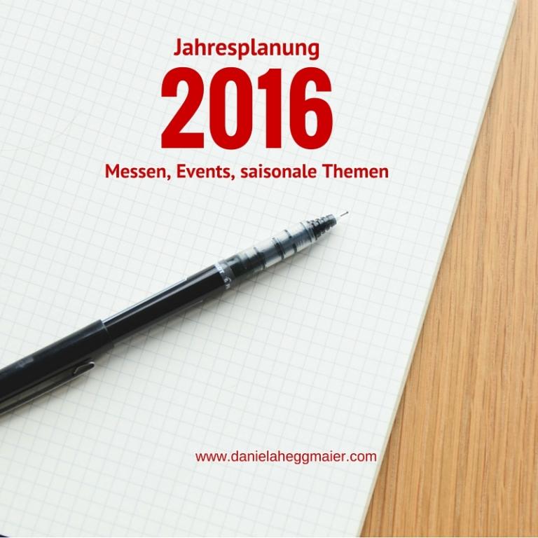 Jahresplanung 2016