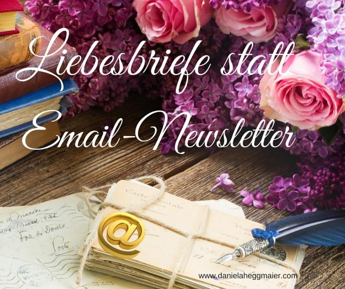 Liebesbriefe Email Newsletter