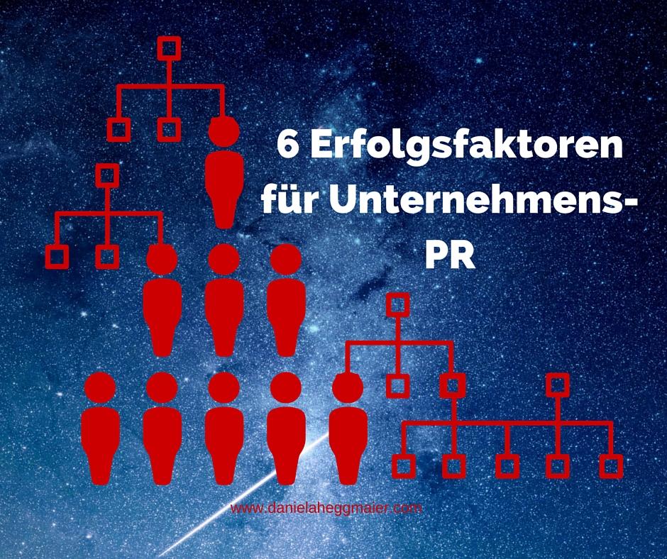 Erfolgsfaktoren PR Unternehmen