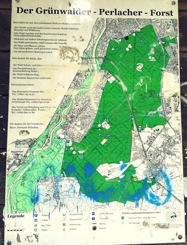 Der Perlacher Forst bietet eine Fülle von Ausflugszielen.