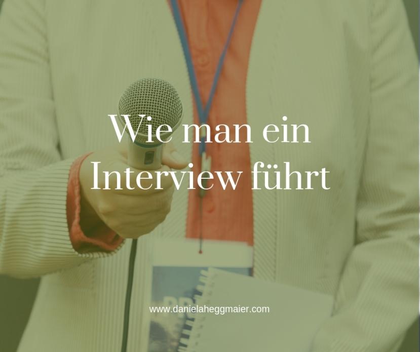 Wie man ein Interview im Blog, Podcast oder Vlog führt –#10minBlog