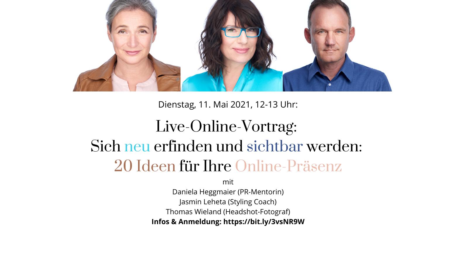 """In diesem Live-Online-Vortrag erfahren Sie kurz und knackig in einer Stunde, mit welchen Marketing- und PR-Ideen Sie den """"Relaunch"""" Ihrer Personenmarke wirkungsvoll inszenieren können"""